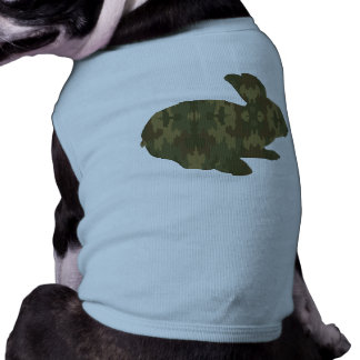 Camouflage Silhouette Easter Bunny Dog Shirt