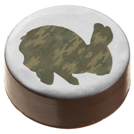 Camouflage Silhouette Easter Bunny Oreo Cookies