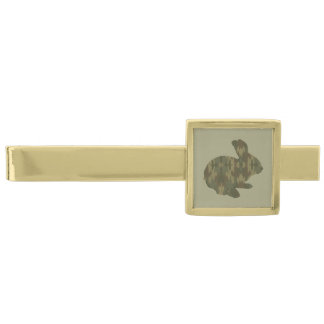 Camouflage Silhouette Easter Bunny Tie Bar