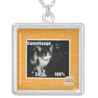 Camouflage Silver Plated Necklace
