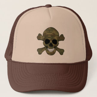 Camouflage Skull And Crossbones Hat