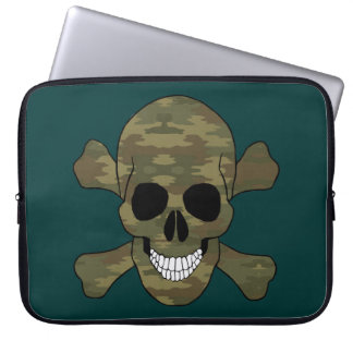 Camouflage Skull And Crossbones Laptop Sleeve