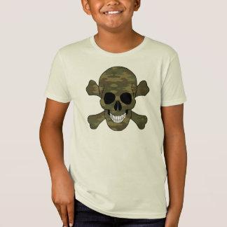 Camouflage Skull And Crossbones Shirt