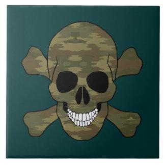 Camouflage Skull And Crossbones Tile