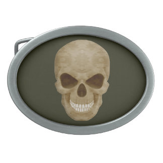 Camouflage Skull Belt Buckle