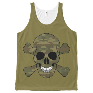 Camouflage Skull Tank Top All-Over Print Tank Top