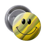 Camouflage Smiley Face 2 Inch Round Button