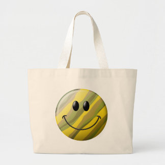 Camouflage Smiley Face Jumbo Tote Bag