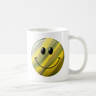 Camouflage Smiley Face Classic White Coffee Mug