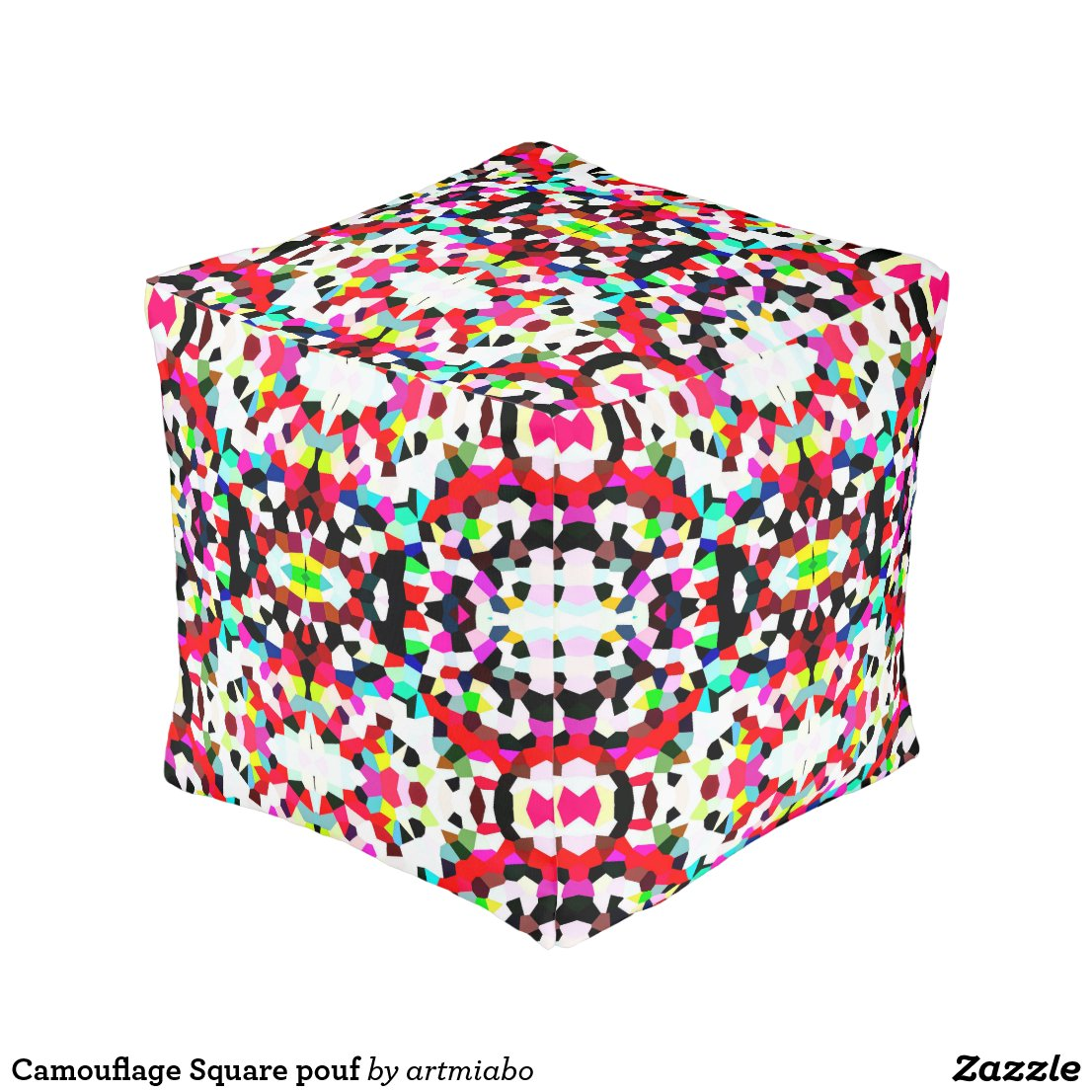 Camouflage Square pouf
