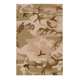 Camouflage Stationery Design