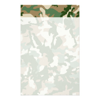 Camouflage Personalized Stationery