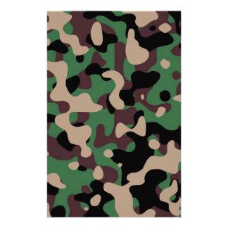 Camouflage Custom Stationery
