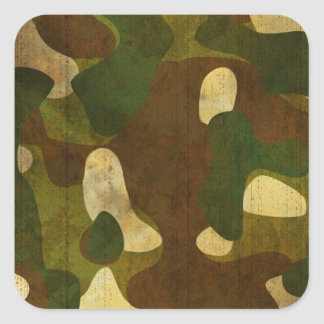 Camouflage Square Stickers