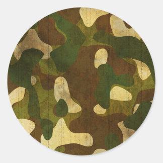 Camouflage Round Sticker