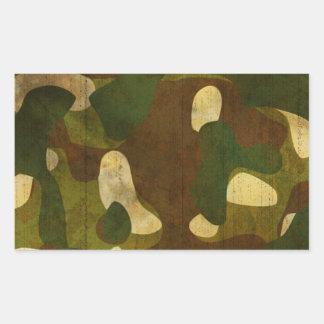 Camouflage Rectangular Stickers