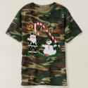 Camouflage t-shirt, mens, Camo Christmas, Holidays T-shirt