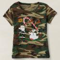 Camouflage t-shirt, women's, camo, christmas t-shirt
