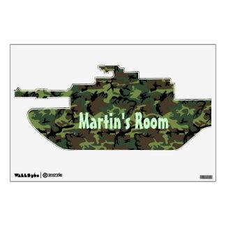 Camouflage  Tank Custom Door Sign Wall Decal