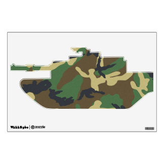 Camouflage Tank Wall Decal