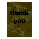 Camouflage Thank You Greeting Cards
