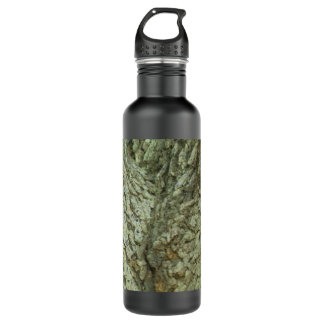 Camouflage Trees Tree Fork Bark Camo Nature Photo Stainless Steel Water Bottle