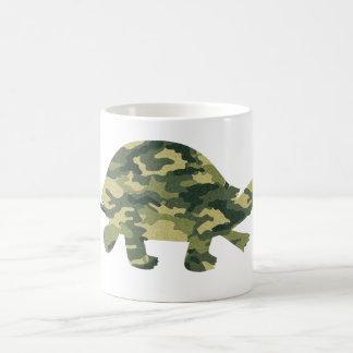 Camouflage Turtle Silhouette Coffee Mug