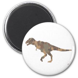 Camouflage Tyranosaurus Rex Silhouette 2 Inch Round Magnet