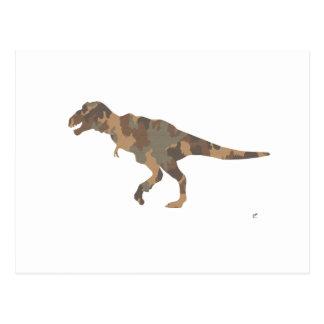 Camouflage Tyranosaurus Rex Silhouette Post Card