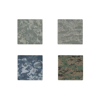 camouflage uniform camo military bush forest stone magnet