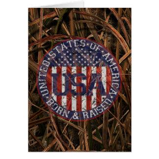 Camouflage USA Card