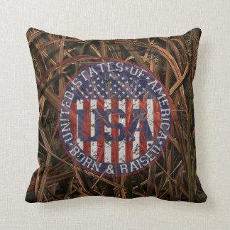 Camouflage USA Throw Pillow