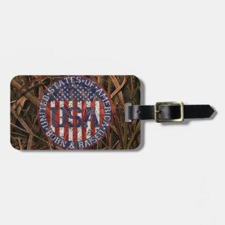Camouflage USA Travel Bag Tags