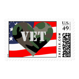 Camouflage Veteran Postage Stamp