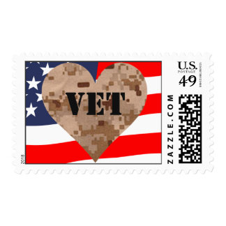 Camouflage Veterans Flag Postage Stamp