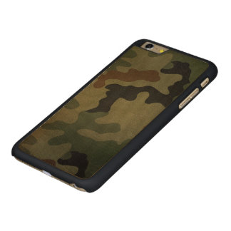 Camouflage Vintage Style Pattern Carved® Maple iPhone 6 Plus Case