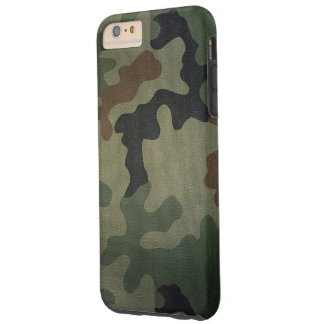Camouflage Vintage Style Pattern Tough iPhone 6 Plus Case