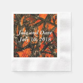 Camouflage Wedding Napkins Paper Napkins