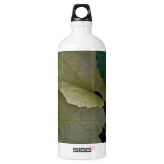 CAMOUFLAGE WITH LEAVES IN EARLY FALL ALUMINUM WATER BOTTLE