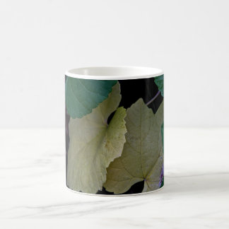 CAMOUFLAGE WITH LEAVES IN EARLY FALL COFFEE MUG