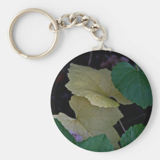 CAMOUFLAGE WITH LEAVES IN EARLY FALL KEYCHAIN