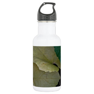 CAMOUFLAGE WITH LEAVES IN EARLY FALL STAINLESS STEEL WATER BOTTLE