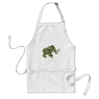 Camouflage Wolley Mammoth Silhouette Adult Apron