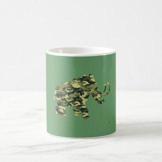 Camouflage Wolley Mammoth Silhouette Coffee Mug