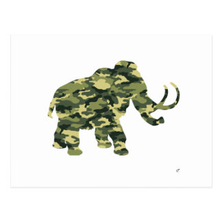 Camouflage Wolley Mammoth Silhouette Post Cards