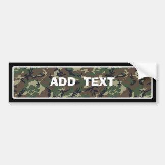 Camouflage Woodland Bumper Sticker