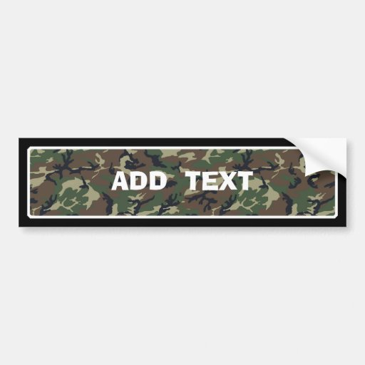 Camouflage Woodland Bumper Stickers