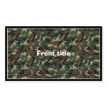 Camouflage Woodland Business Card