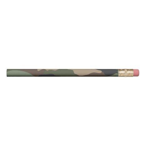 Camouflage Woodland Camo Military Khaki Tan Black Pencil