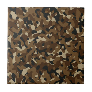 Camouflage Woodland Forest (Black, Brown, Beige) Tile
